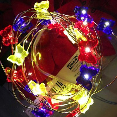 Silver Butterfly Battery Fairy String Light 3M 30 LED Home Xmas Party Decor
