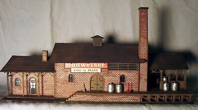 Vintage Model Power #451  BUDWEISER BREWERY  Building - HO Scale - Built