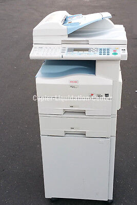 Ricoh MP 201  Black and White Copier, Color Scan Print Fax 21 PPM. Low Meter , j