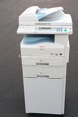 Ricoh MP 201  Black and White Copier, Color Scanner Print Fax 21 PPM. Low Meter