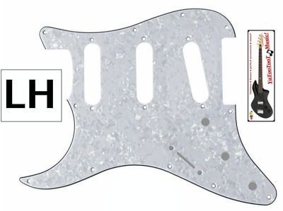 NEW PICKGUARD LH STRATOCASTER SSS pearl white 3 ply - gaucher pour guitare strat