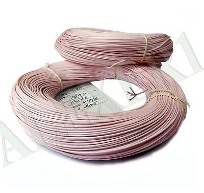 10m / 33 ft 18AWG / 0.75mm² Teflon PTFE Wire Copper 999.9 USSR MGTF