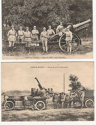 Cpa Guerre 14/18 -Canons -Camp De Mailly.