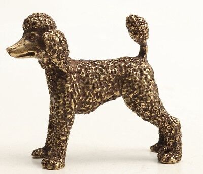 Lovely Chinese Old Bronze Handmade Poodle Statue Figure Noble Gift