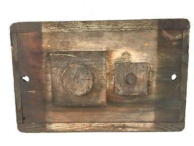 """Vtg 22""""x14"""" Wood Foundry Mold Form Pattern Industrial Home Decor Steampunk Art"""