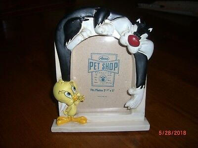 RARE 1994 Looney Tunes Acme Pet Shop Sylvester Cat & Tweety Bird Picture Frame