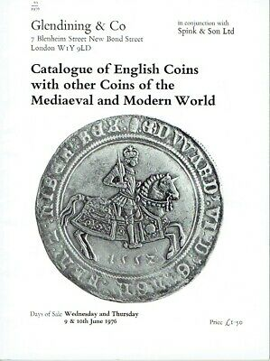 Glendining London Catalogue English Coins with Coins of Mediaeval World 1976