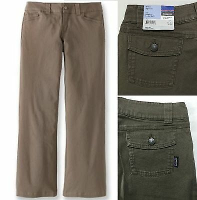 NWT $65 Patagonia Women's Negril Pants Brown Stretch 100% Organic Cotton 4 6 10