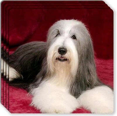 Bearded Collie Rubber Coaster Set