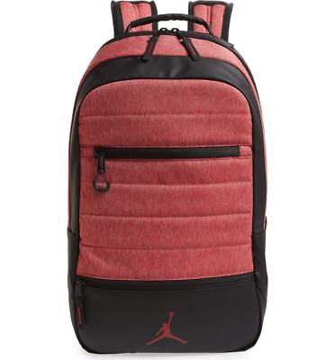ac2024be6f9 NIKE AIR JORDAN Airborne Backpack Gym Red Heather 9A1944-R79 NEW ...