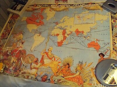 british empire reproduction britain world wall map daily mail limited edition