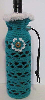Turquoise Wine and Water Bottle Cozy