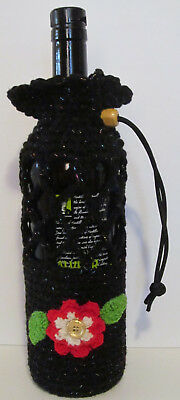 Black Wine and Water Bottle Cozy
