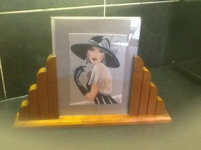 Large Art Deco cloud side wood Picture Frame