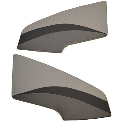 Lund Boat Bow Plat Cushions | 17/18 Crossover Gray (Set of 2)