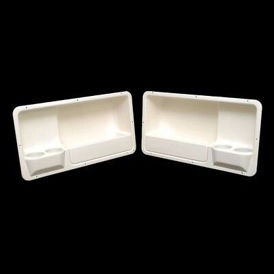 SSi Boat Coaming Storage Box w/ Cup Holders | 29 x 15 1/2 x 7 Inch (Set of 2)