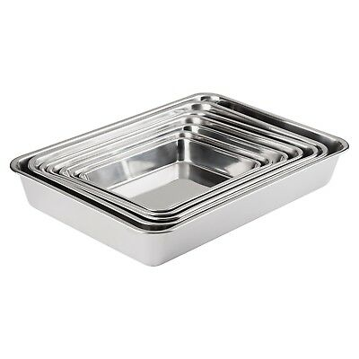 18/8 Solid Stainless Steel Baking Tray Set - 7 Piece Set