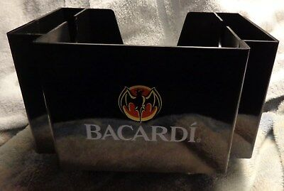 Bacardi Rum Bar Caddy - Napkin, Straw, Swizzel Holder....NEW...Style 3