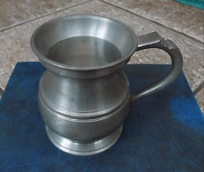 Superb Vintage 1/2 Pint Pewter Tankard By Thomas E Williams , Birmingham