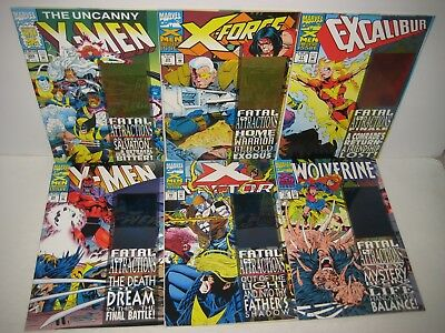 X-MEN FATAL ATTRACTIONS Series Complete 6 Issues [Marvel 1993] Wolverine 75