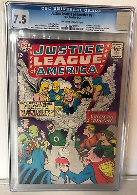Justice League Of America #21 - Cgc 7.5 - 1St Jsa In Silver Age - Ow/w Pages