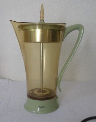 10 Cup Coffee Maker Percolator Oster Electric Atomic Space Age Working