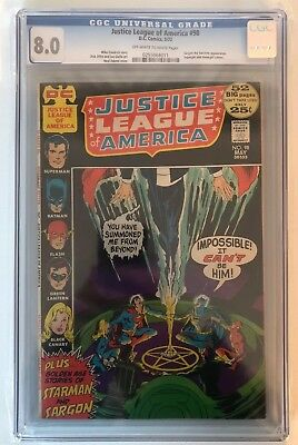 Justice League Of America #98 - Cgc 8.0 - Off White/white Pages - Supergirl App