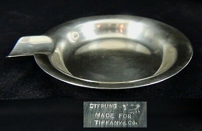 STERLING SILVER ROUND CIGAR ASHTRAY-HERBST & WASSALL made for TIFFANY & Co
