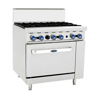 Cookrite 6 Burner With Oven Ato-6B-F Lpg