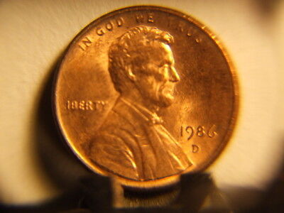 Lincoln Penny 1986 D Error  Missing A Letter