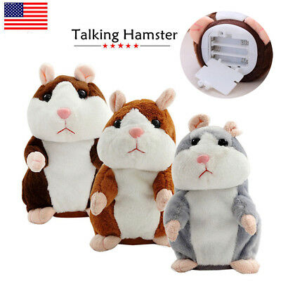 Cute Talking Nod Hamster Mouse Record Chat Mimicry Pet Plush Toys Funny