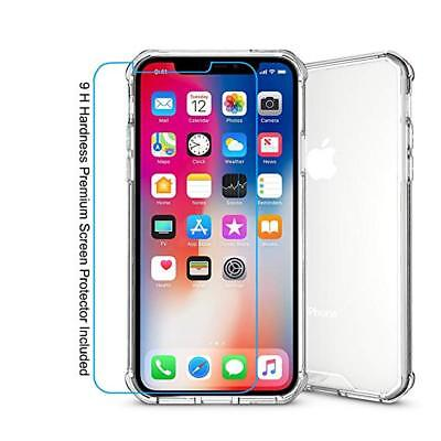 Iphone X/Xs/Xr/Xs Max Clear Case And 3 Pack Screen Protector Bundle