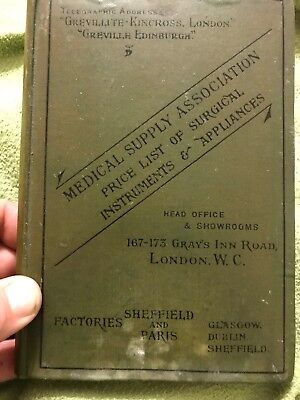 Antique Medical Book- Medical Supply Catalogue 1905.