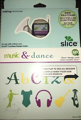 "Slice Elite Design Card Speicherkarte "" Music & Dance "" Making Memories A B C"