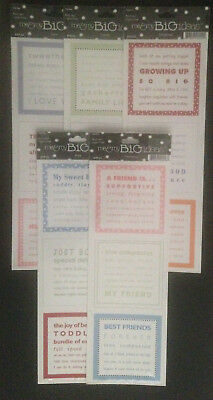 MAMBI ME AND MY BIG IDEAS Scrapbooking Set of Three Square Stickers per Sheet
