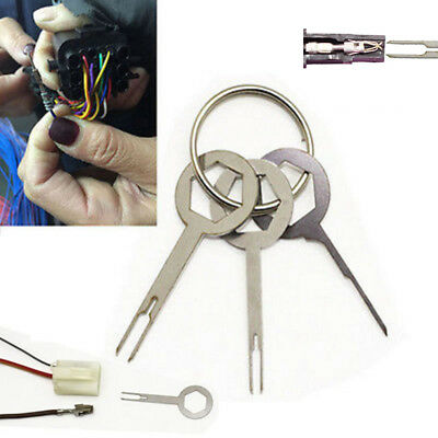 3Pcs Terminal Removel Tool Kit Wiring Crimp Connector Extractor Pin Key