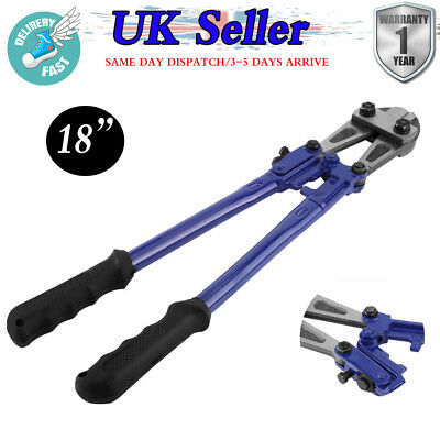 """18"""" Bolt Cutters Heavy Duty Carbon Steel Croppers Cable Chain Lock Cut Padlock"""