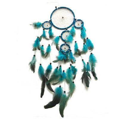 Boho Dream Catcher Dreamcatcher Wall Hanging Decor Craft Gift Ornament Blue New