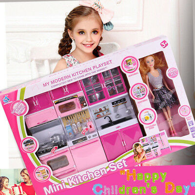 Barbie Kitchen Playset With Doll 44 99 Picclick Uk