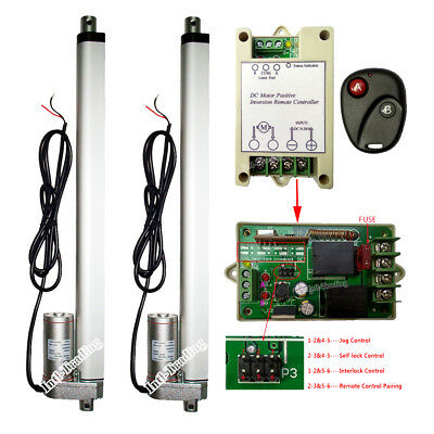 """A Pair of 14"""" 12V DC Linear Actuator &Wireless Control Kits for Electric Medical"""