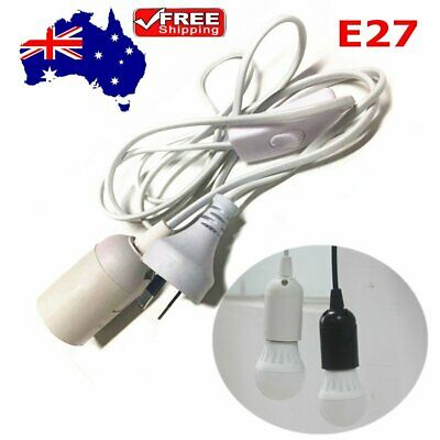 1.8M E27 Cable Cord Plug Pendant Lamp Light Bulb Holder Socket Base With Switch