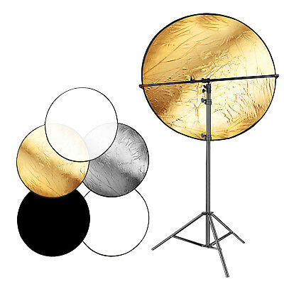 """Neewer 43"""" 5-in-1 Collapsible Photo Light Reflector Panel with 2m Stand Kit"""