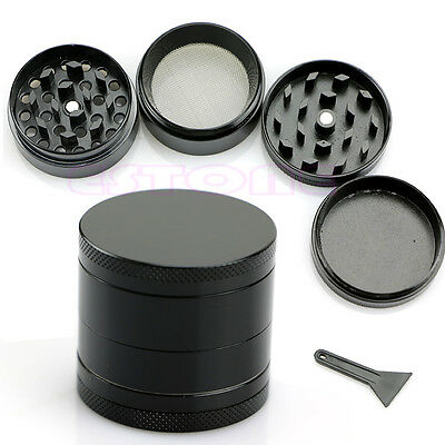 Nice 4 Layers Metal Tobacco Crusher Smoke Herbal Herb Grinder Hand Muller Black