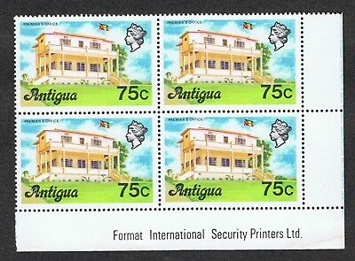 Antigua 418 MNH  Premier's Office   Block of 4  1976