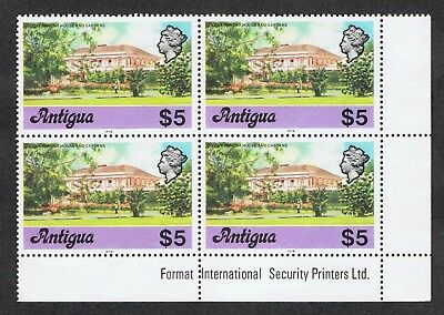 Antigua 421 MNH  Government House  Block of 4  1976