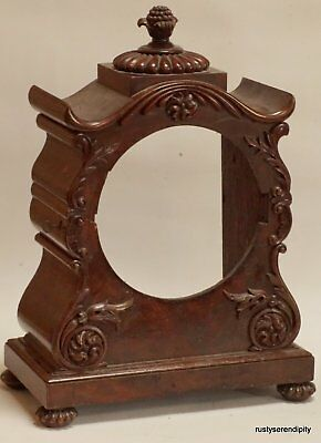 19c. English Mahogany Bracket Clock Case