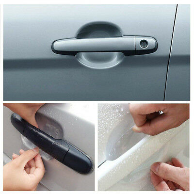 4pcs Invisible Clear Car Door Handle Protector Film Scratch Guard Cover Sticker