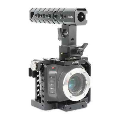 SmallRig 1922 CameraCage with HDMI Clamp/Cheese Handle/QR Rail for BMMCC BMMSC