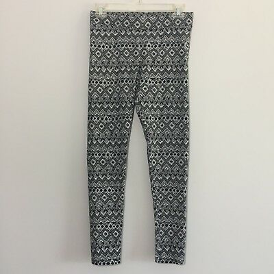 f3873a1d9b69a2 American Eagle AE Womens Black White Aztec Geometric Print Leggings Size  Medium