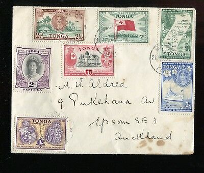 Tonga KGVI 1951 Friendship issue used on cover